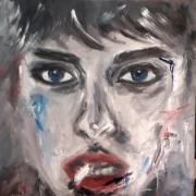 tableau personnages femme portrait visage cigarette : Femme à la cigarette