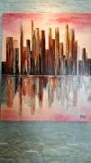 tableau abstrait manhattan un matin : Manhattan