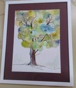 tableau paysages decoration salon maison chambre : L'arbre