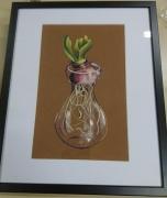 tableau fleurs decoration salon chambre maison : Jacinthe