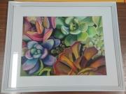tableau fleurs succulentes plantes decoration salon : Succulentes