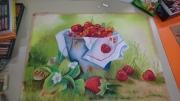tableau fruits decoration salon maison restaurant : Fruits du jardin