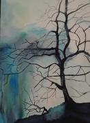 tableau paysages decoration salon chambre maison : L'arbre mort
