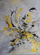 tableau abstrait : Bumblebee