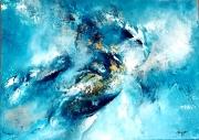 tableau abstrait : Blueseaw