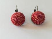 artisanat dart autres spirale au crochet art passion perles japonaises : boucle d'oreille plate