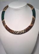 bijoux animaux spirale au crochet : Collier façon léopard