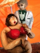sculpture personnages deesse de la graisse papier mache sculpture originalite humorist : Tchitchawéwé Déesse de la Graisse