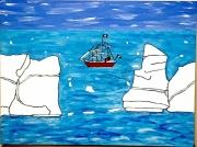tableau marine : Navire en Mers de Weddell
