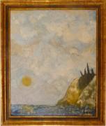 tableau paysages lune impressionisme marine ile aux morts : Sans titre