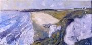 tableau paysages pen hat impressionisme finistere plage : Pen hat