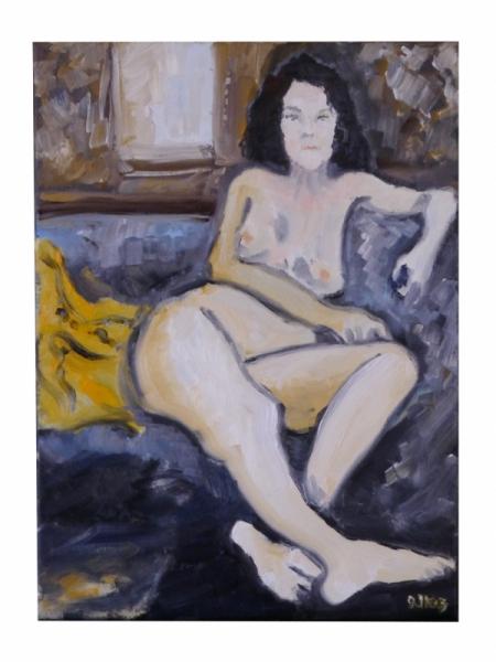 TABLEAU PEINTURE Nus Femmes Fenêtre Femme nue Nus Peinture a l'huile  - Nue femmes à la fenêtre
