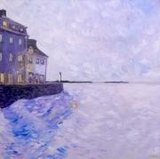tableau marine port lumiere impressionnisme : Sans titre