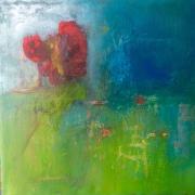 tableau paysages : L arbre rouge