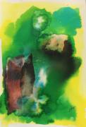 tableau abstrait : Verde