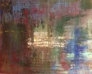 tableau abstrait : Lumiere lointaine
