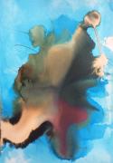 tableau abstrait : Tache sur l eau