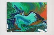 tableau animaux peinture acrylique tableau animaux : Martin pêcheur