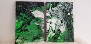 tableau paysages peinture acrylique tableau nature : Forêt dense
