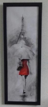 Walk in the rain in Paris (