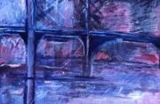 tableau architecture imaginaire pont paysage : Pont violet