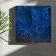 tableau abstrait Œuvre unique abstrait tableau pas cher peint ,a la main : Composition n°54