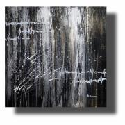 tableau abstrait Œuvre unique abstrait peint ,a la main : Composition n°58