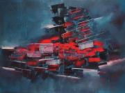 tableau abstrait art abstrait œuvre unique : Composition n°22