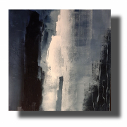 tableau abstrait abstrait bleu tableau bleu et blanc oeuvre unique : Composition n°62