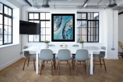 tableau abstrait art abstrait œuvre unique pas cher : Composition n°28