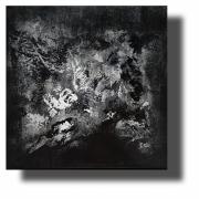 tableau abstrait tableau abstrait œuvre unique tableau peint ,a la main : Composition n°73