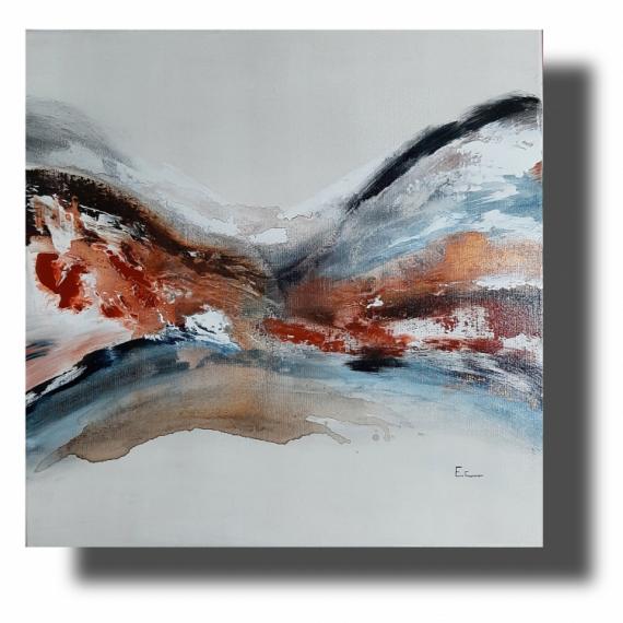 TABLEAU PEINTURE Abstrait tableau peint � la main oeuvre unique acrylique Abstrait  - Composition n�