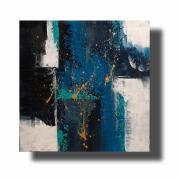 tableau abstrait Œuvre unique abstrait peint ,a la main : Composition n°11