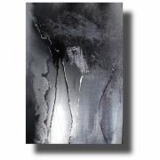 tableau abstrait abstrait œuvre unique peint ,a la main : Composition n°64