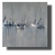 tableau abstrait tableau abstrait tableau gris tableau peint ,a la main tableau grand format : Composition n°71