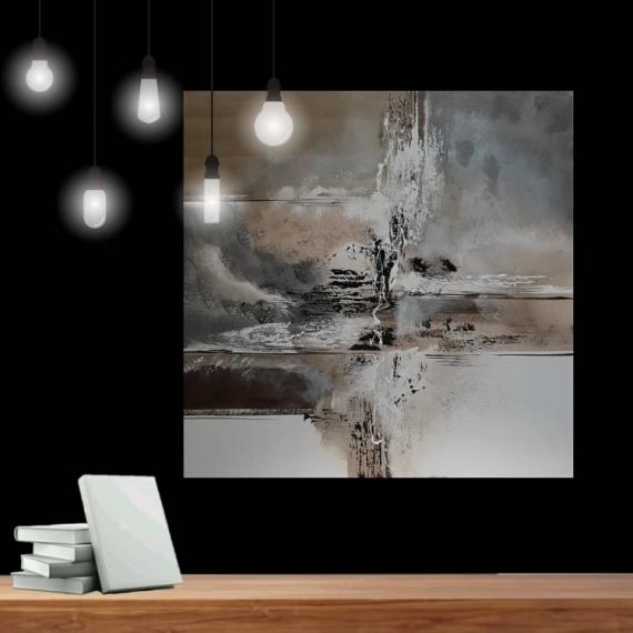 TABLEAU PEINTURE 寀vre unique Abstrait Tableau pas cher Abstrait Acrylique  - Composition n�