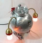 artisanat dart robot lampe piece unique : RollerBot