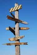 photo paysages panneau direction : Directions