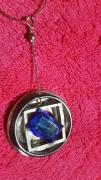 bijoux personnages chaine 65 cm saphir forme geometrique argent : le troisième oeuil d'athéna