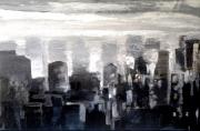 tableau paysages buildings urbain ville city : Buildings