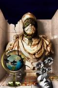 art numerique scene de genre fermer les yeux sectes idealiste angelisme : LE DENI : L'homme voilé !