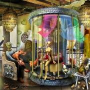 """art numerique scene de genre secte psychiatrie gourou adeptes : L'AUTO BILAN....."""" DECALAMINAGE CERVOTIQUE """""""
