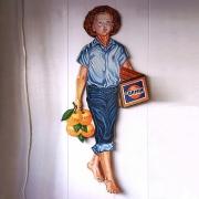 photo personnages publicite affiche orange annee 50 : SOUVENIR DE GAMIN