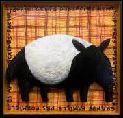 tableau animaux figuratif naif enfant decoratif : Fourmi