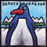 tableau animaux pinguin naif figuratif enfant : Pinguin