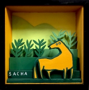 tableau animaux cheval diorama decoratif figuratif : Diorama cheval