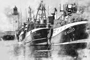 art numerique marine bateau ile d oleron peche mer : Départ de pêche