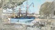 art numerique marine bateaux caen normandie mer : Le Français