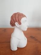 sculpture personnages coiffure crans buste 1900 : Marie-Louise
