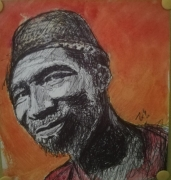 dessin personnages afrique homme joie stylo : Freedom